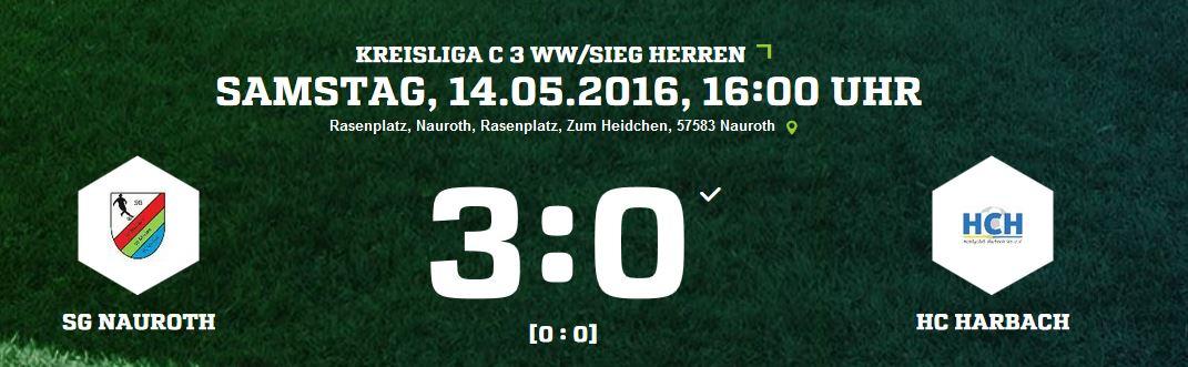 SG Nauroth 3:0 HC Harbach