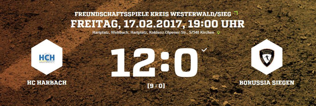 HC Harbach 12:0 Borussia Siegen