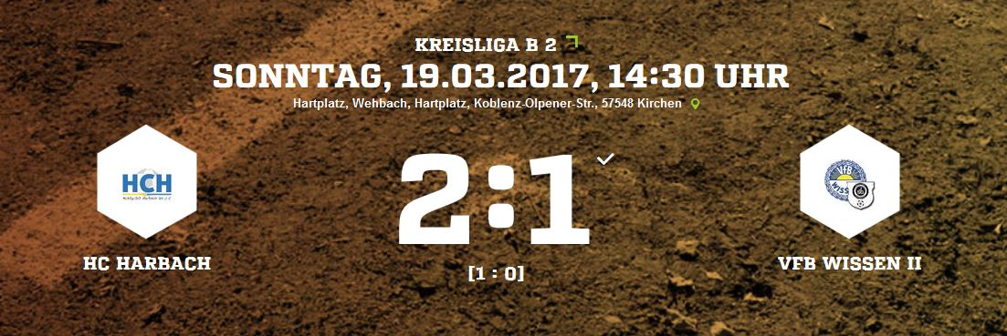 Hobbyclub Harbach – VfB Wissen II 2-1