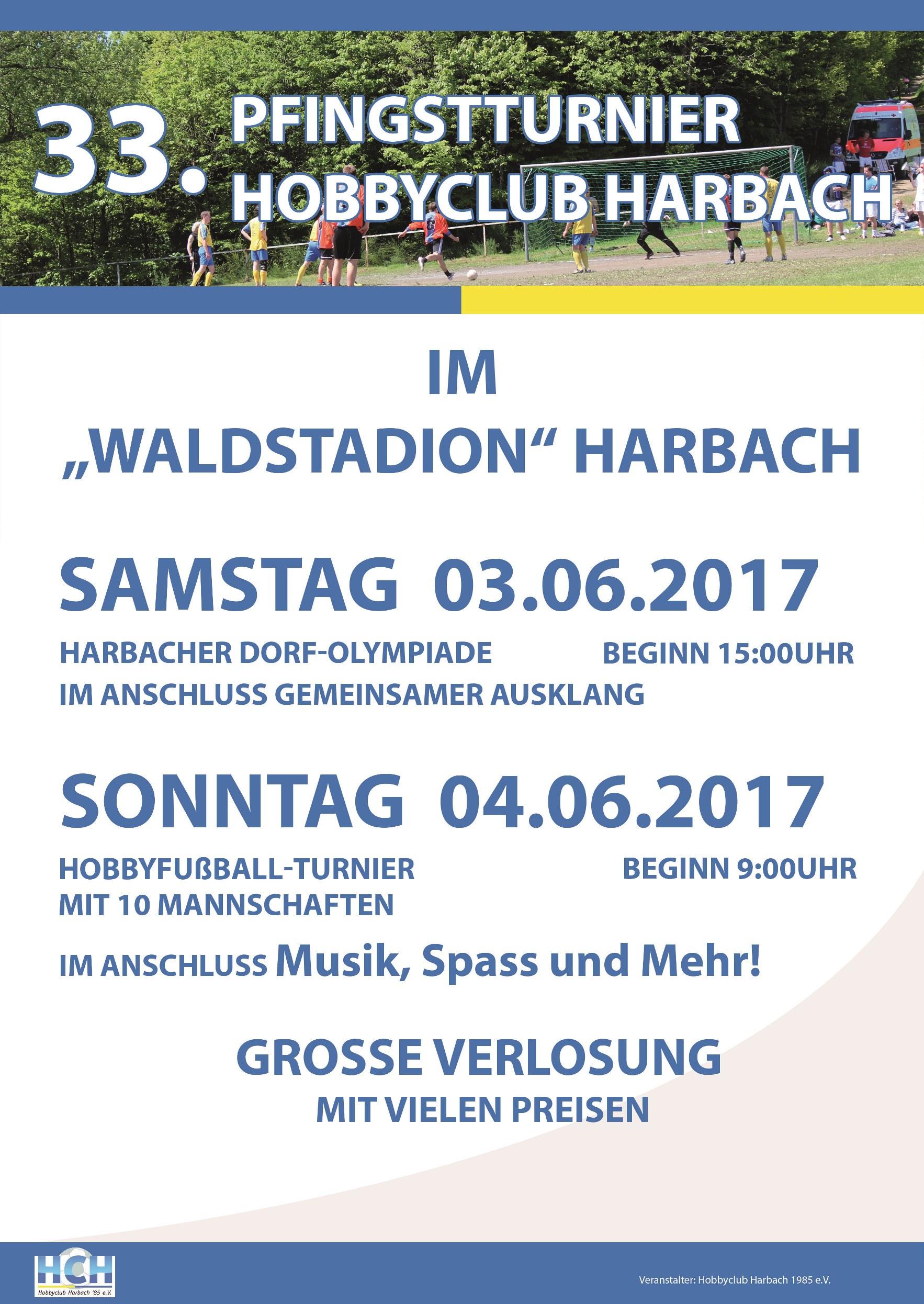 33. Pfingsturnier des HC Harbach